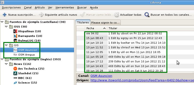 OSM Mapper RSS