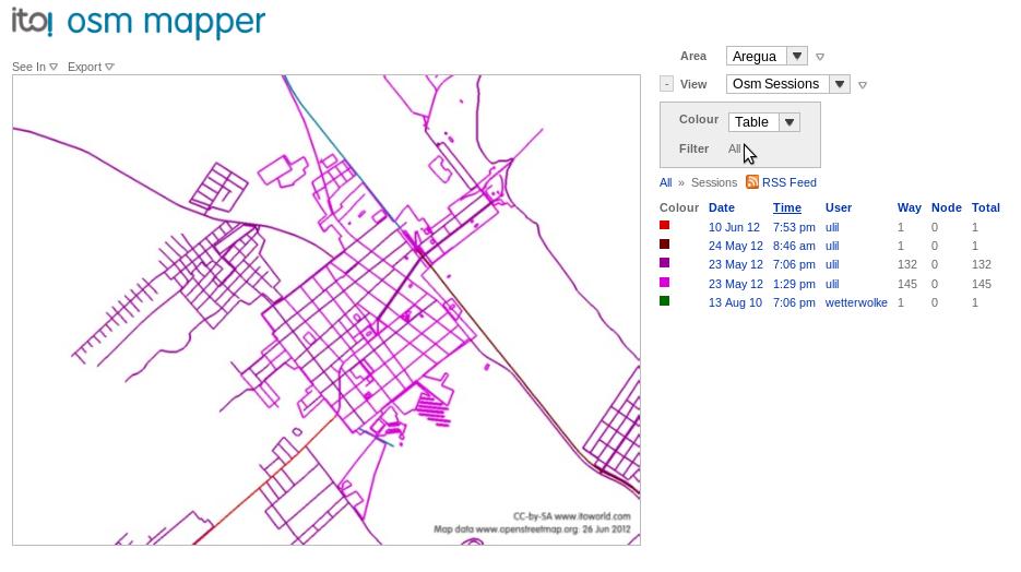 OSM Mapper ejemplo con Aregua