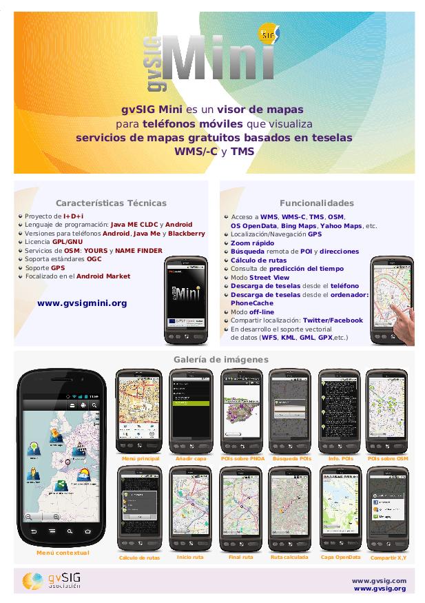 Poster gvSIG Mini