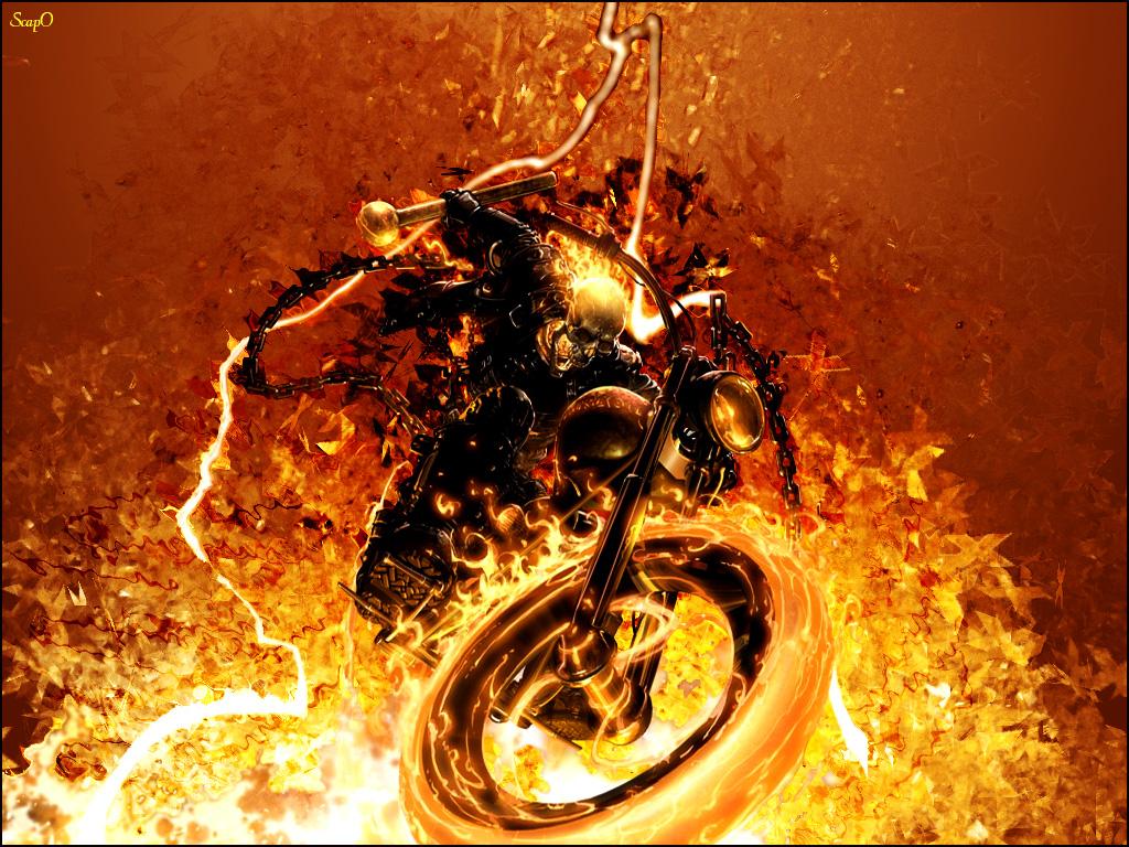Esqueleto de fuego