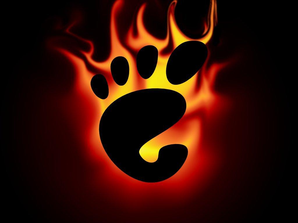 Gnome en llamas