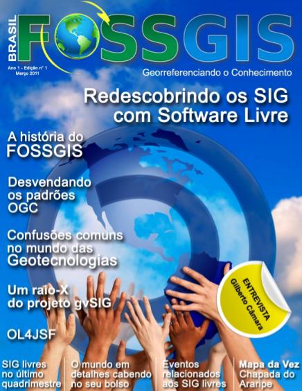 Portada de la primera edición de FOSSGIS Brasil