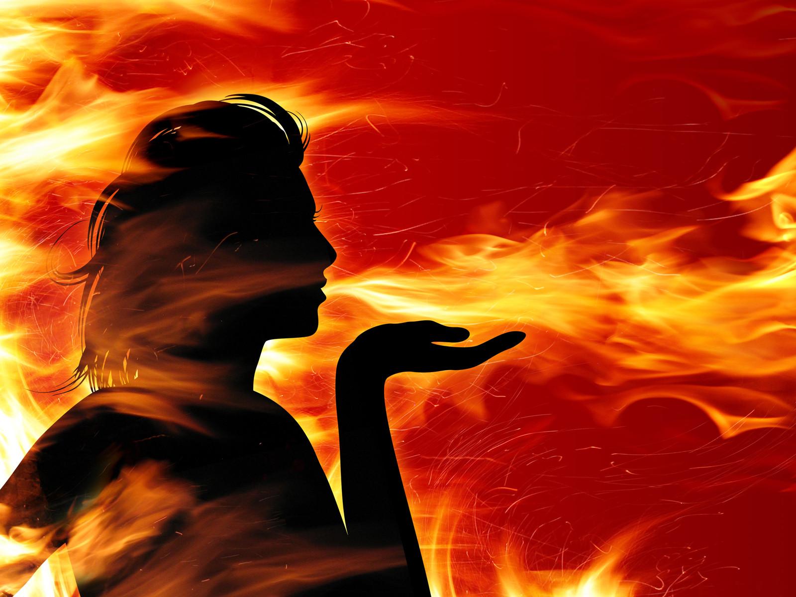 Soplando llamas