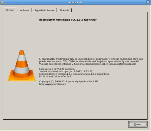 vlc 2.0.2 en Ubuntu 12.04