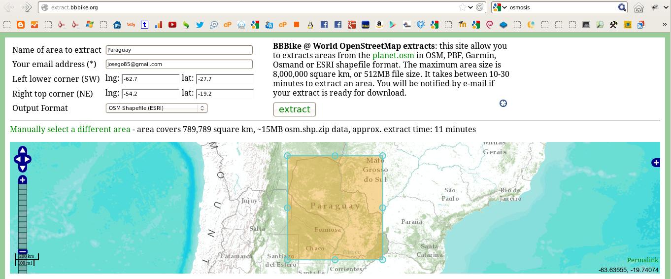 Extraer OSM de Paraguay