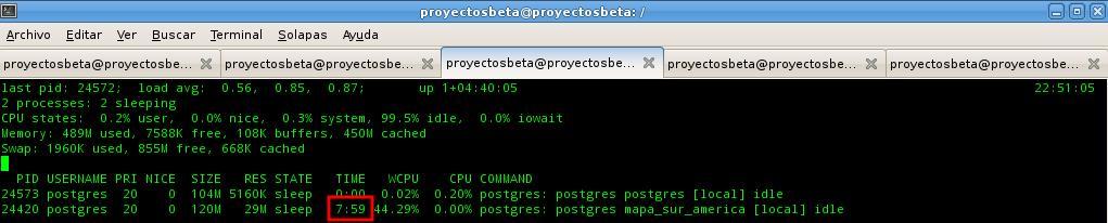 Prueba de PostGIS con índice espacial