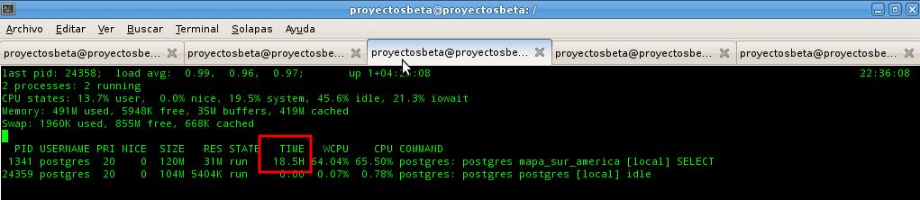 Prueba de PostGIS sin índice espacial