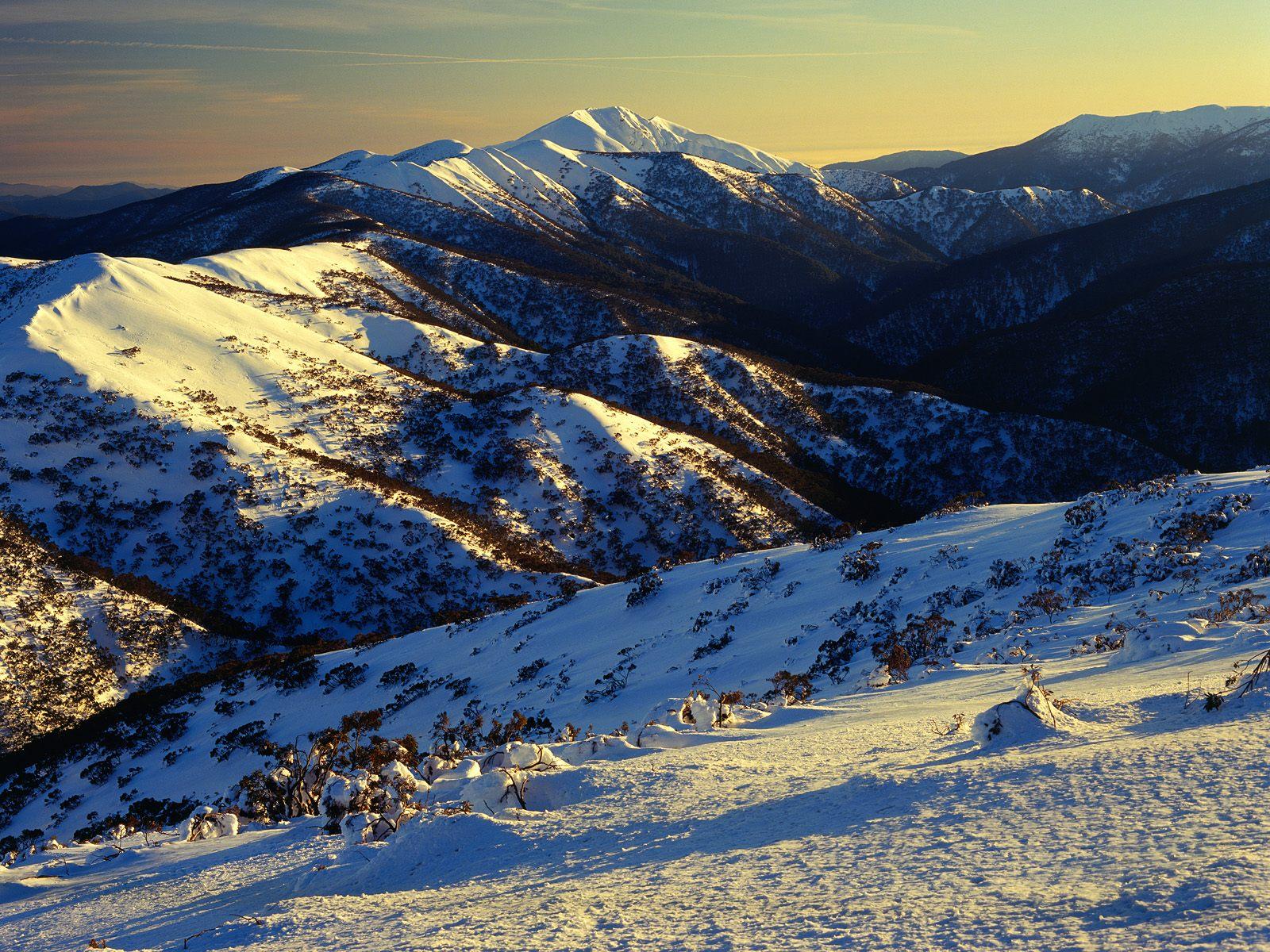 Sunrise mount feathertop alpine national park victoria