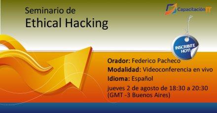 Seminario gratuito y online de Ethical Hacking
