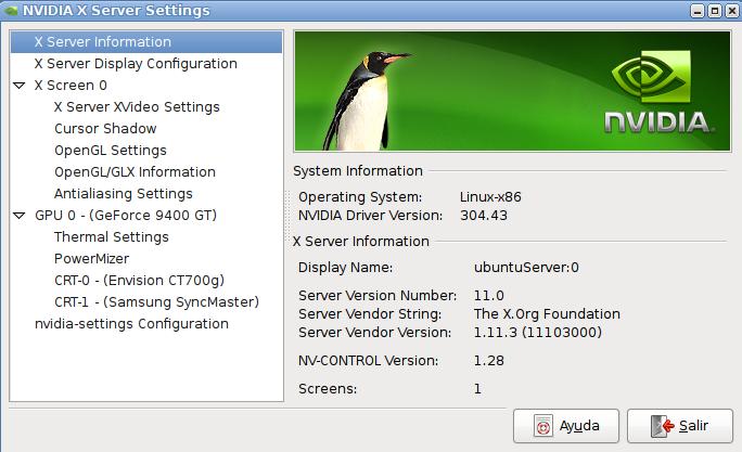 Driver de Nvidia en Ubuntu Server 12.04
