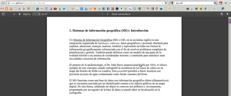 Ejemplo de leer un pdf en Mozilla Firefox 15