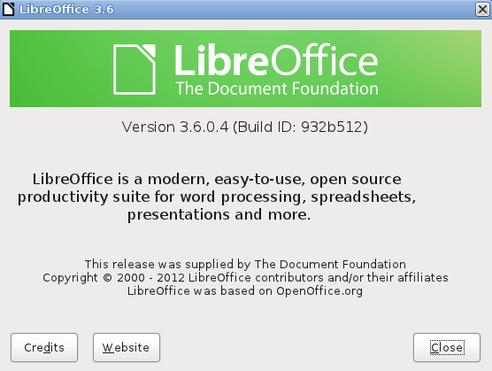 LibreOffice 3.6 en Ubuntu 11.10