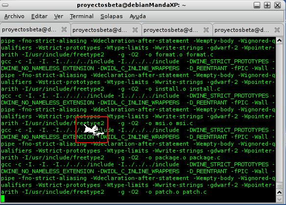 Para los amantes de los gatos en Debian Squeeze