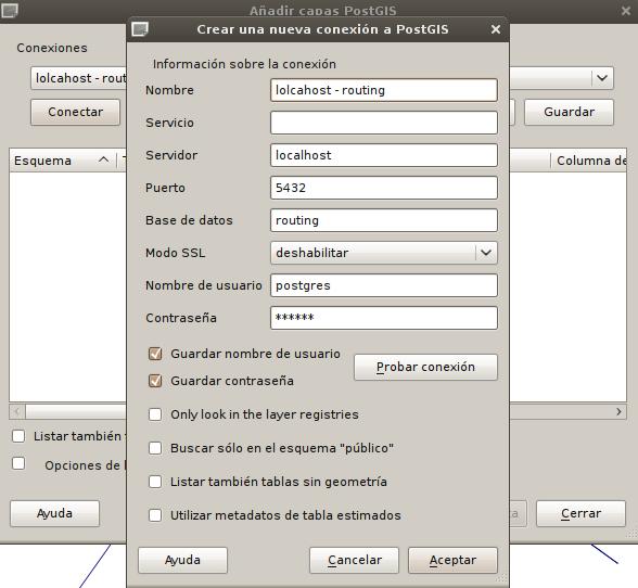 Conexión a una base de datos PostGres- PostGIS usando QGIS