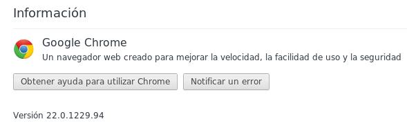 Google Chrome 22