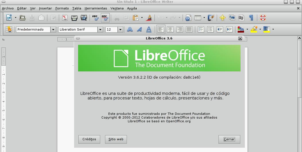 LibreOffice 3.6.2 en Debian Squeeze