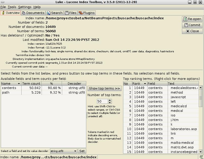 Utilizando Luke en Debian Squeeze