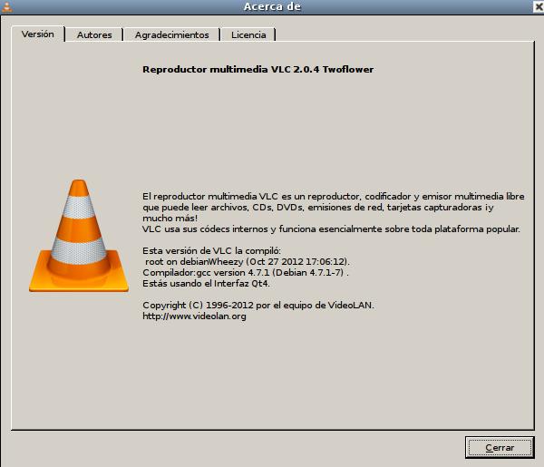 VLC 2.0.4 en Debian Wheezy