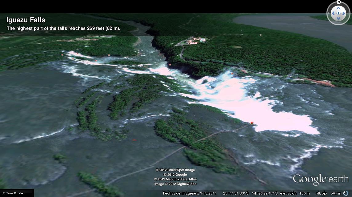 Iguazu Falls en Google Earth