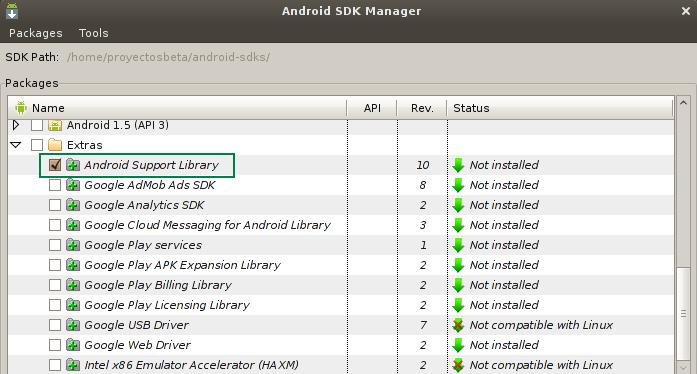 Instalando Android en Eclipse 4.2.1