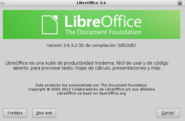 LibreOffice 3.6.3 en Debian Squeeze