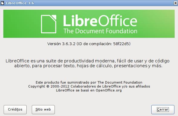 LibreOffice 3.6.3 en Ubuntu 12.04