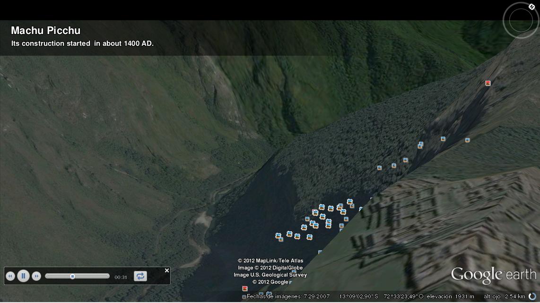 Machu Picchu en Google Earth