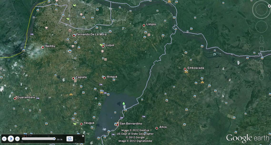 Ejemplo de uso de Google Earth en Debian Squeeze