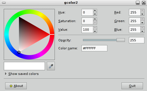 Averiguar colores en Debian Squeeze