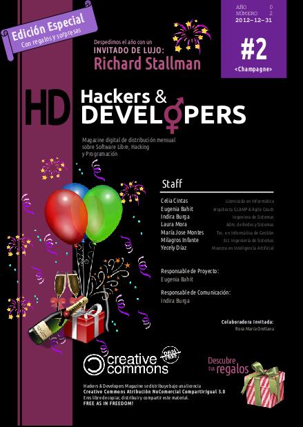 Portada de la revista Hackers & Developers número 2