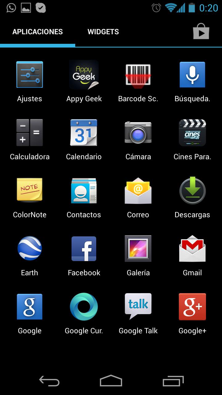 Screenshoot en Android 4.2