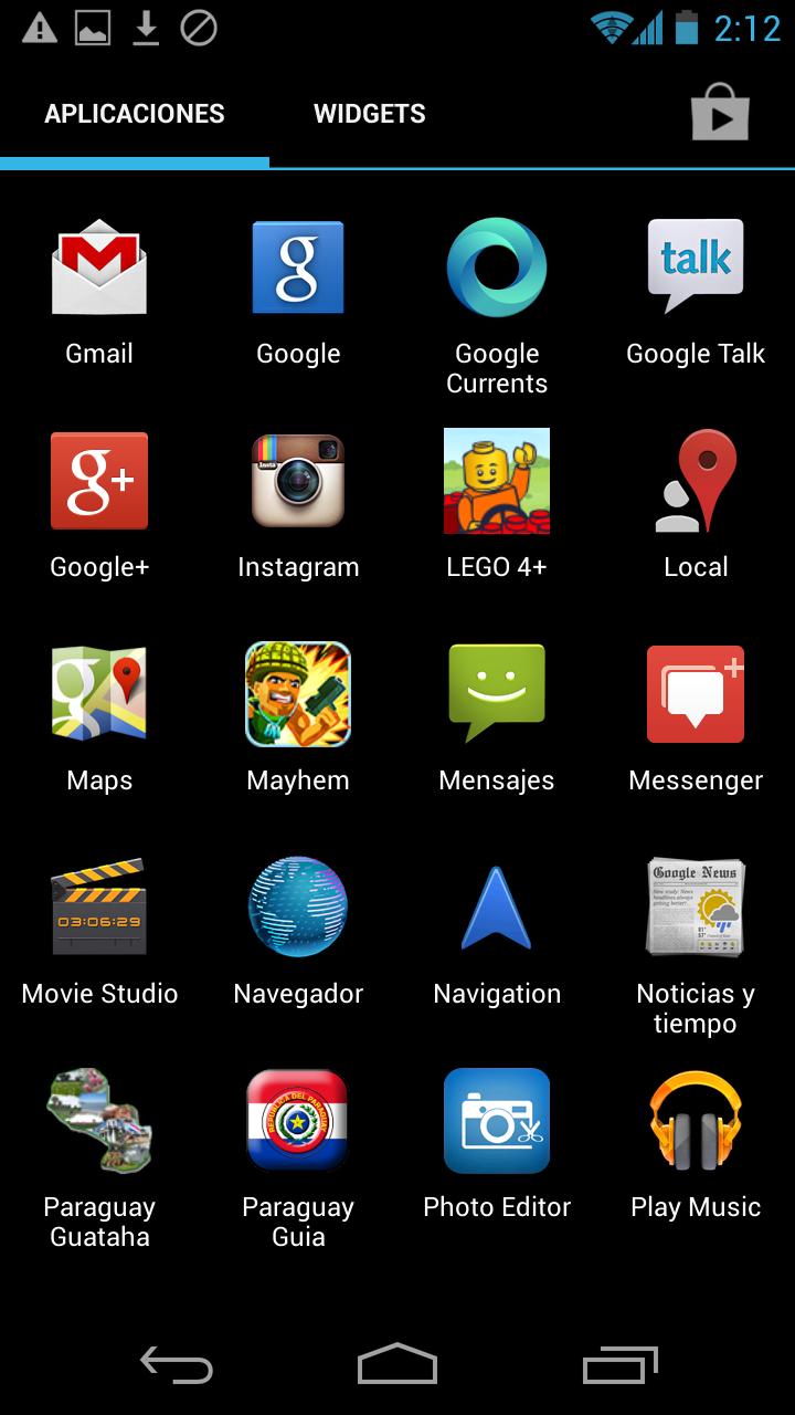 Android 4.2.2 en una Samsung Galaxy Nexus