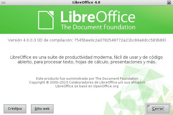 LibreOffice 4 en Debian Squeeze