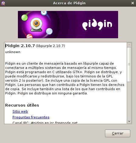 Pidgin 2.10.7 en Debian Squeeze