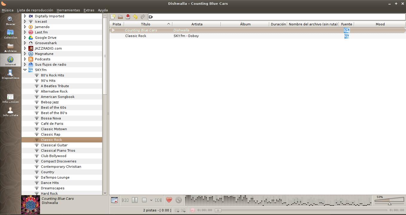 Clementine 1.1 en Debian Squeeze
