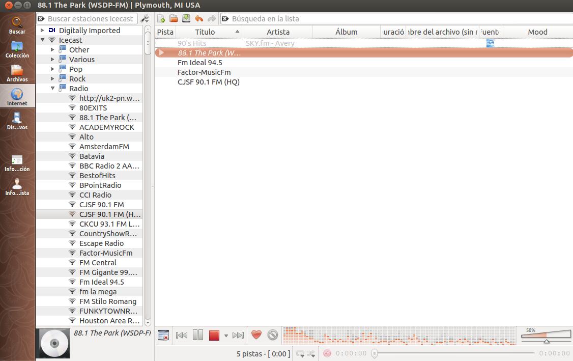 Clementine 1.1 en Ubuntu 12.10