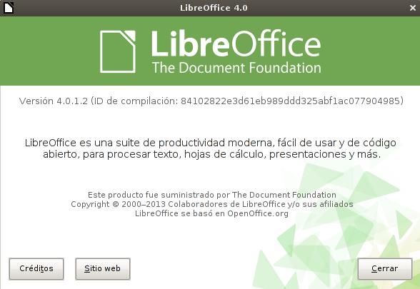 LibreOffice 4.0.1 en Debian Squeeze