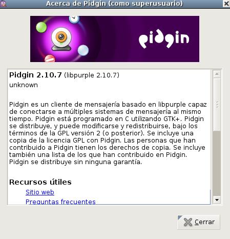 Pidgin 2.10.7 en Debian Wheezy