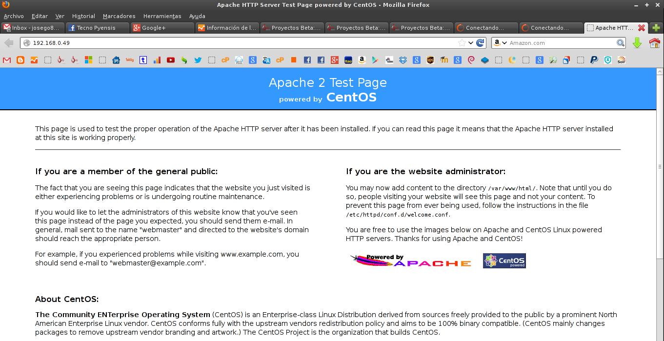Apache en CentOS 6.4