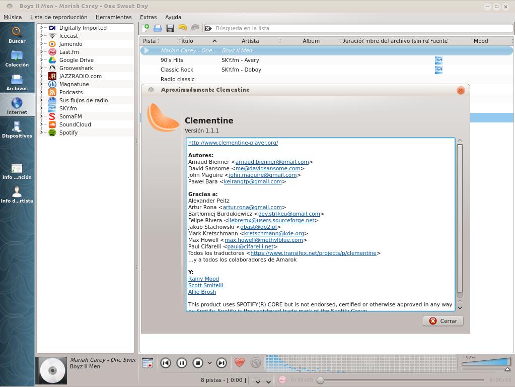 Clementine 1.1 en Ubuntu 13.04 Beta 2