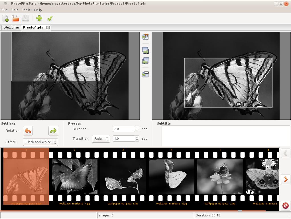Crear vídeos de imágenes con PhotoFilmStrip