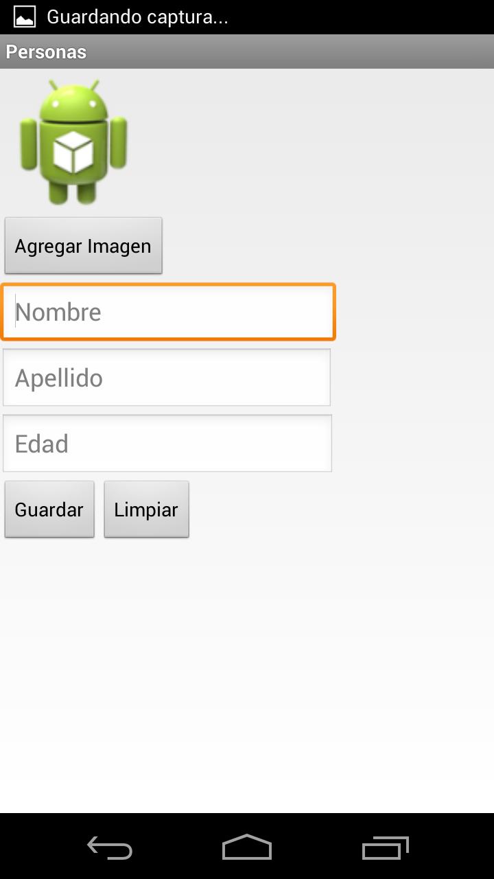 Ejemplo de Android con base de datos, adapter, etc