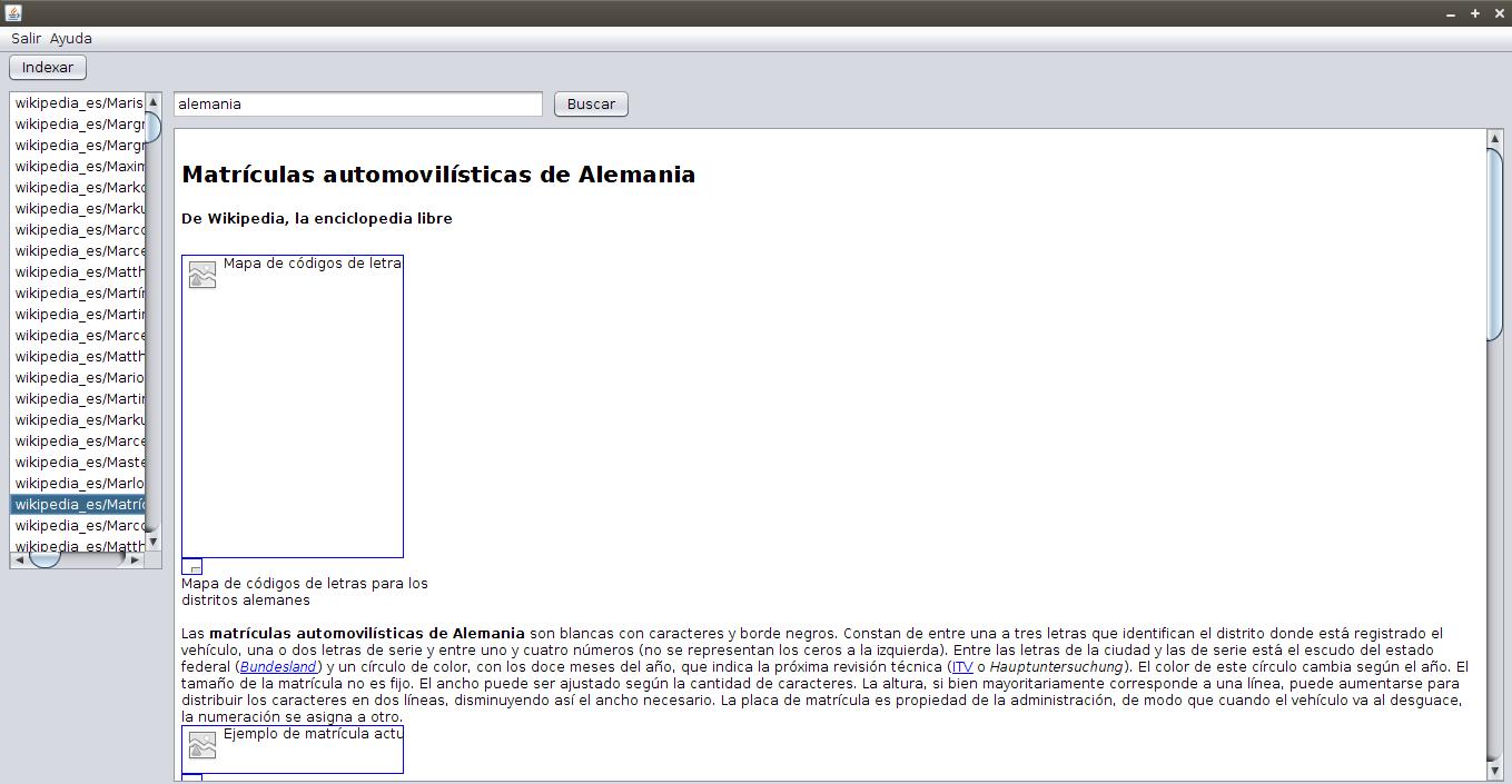 Ejemplo de un buscador de ejemplo en java usando Apache Lucene