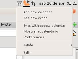 Google Calendar en Ubuntu 13.04 Beta 2