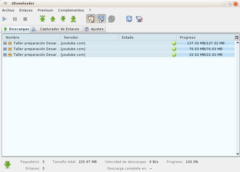 JDownloader en Ubuntu 12.10
