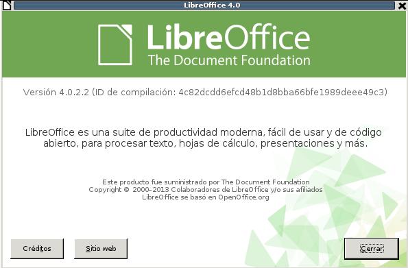 LibreOffice 4.0.2 en Debian Wheezy