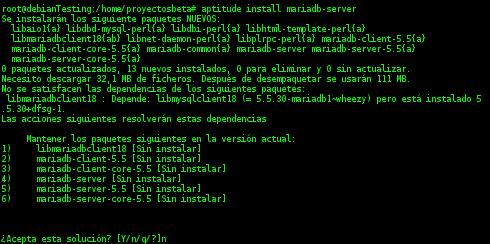 MariaDB en Debian Wheezy