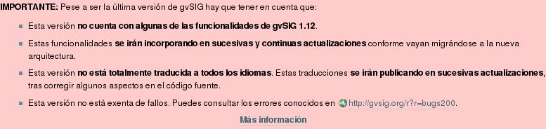 Noticias para gvSIG 2.0