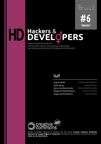 Portada de la revista Hackers & Developers número 6