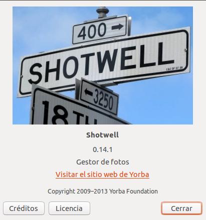 Shotwell 0.14.1 en Ubuntu 12.10
